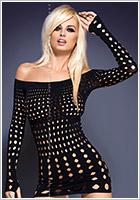 Obsessive Rocker Dress with long sleeves - Black (S/M/L)