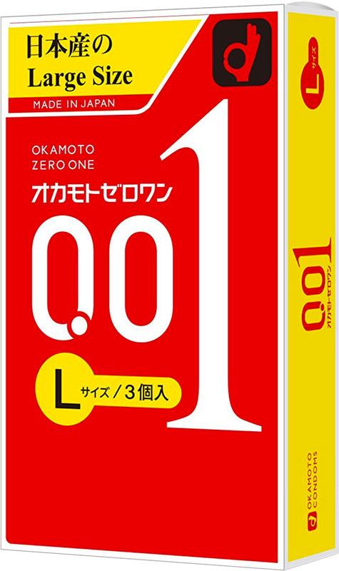 Okamoto 0.01 Large - Preservativo ultrasottile (3 preservativi)