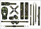 Kit de contrainte Ouch! Army Bondage Kit - 11 pièces