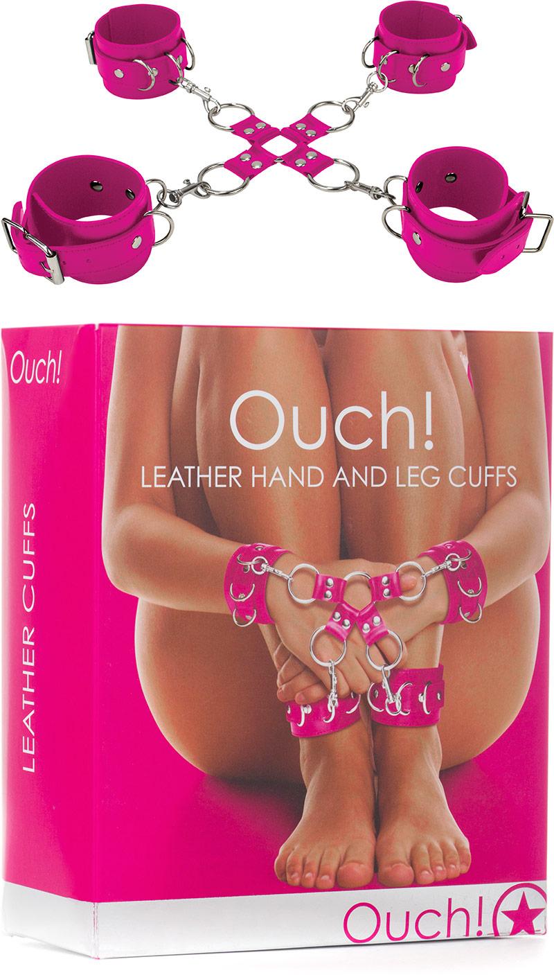 Kit di costrizione mani e piedi Ouch! - Rosa