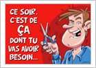 """Carte humoristique pour femme - """"Ce soir c'est ça..."""""""