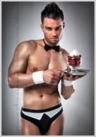 Costume sexy de garçon de café / serveur Passion (S/M)