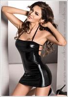 Passion Beltis Mini Dress & Thong - Black (S/M)