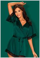 Obsessive Sensuelia Dressing Gown - Green (S/M)