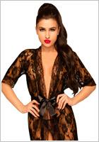 Penthouse Sweet Retreat Dressing Gown - 2 pieces - Black (S/L)
