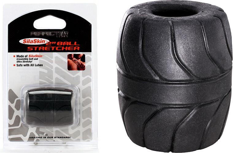 Costrittivo per testicoli PerfectFit Ball Stretcher - Nero