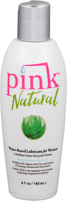 Pink Natural lubricant with Aloe Vera - 140 ml (water based)