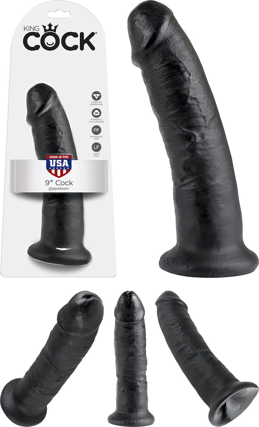 Dildo realistico King Cock - 20 cm - Nero
