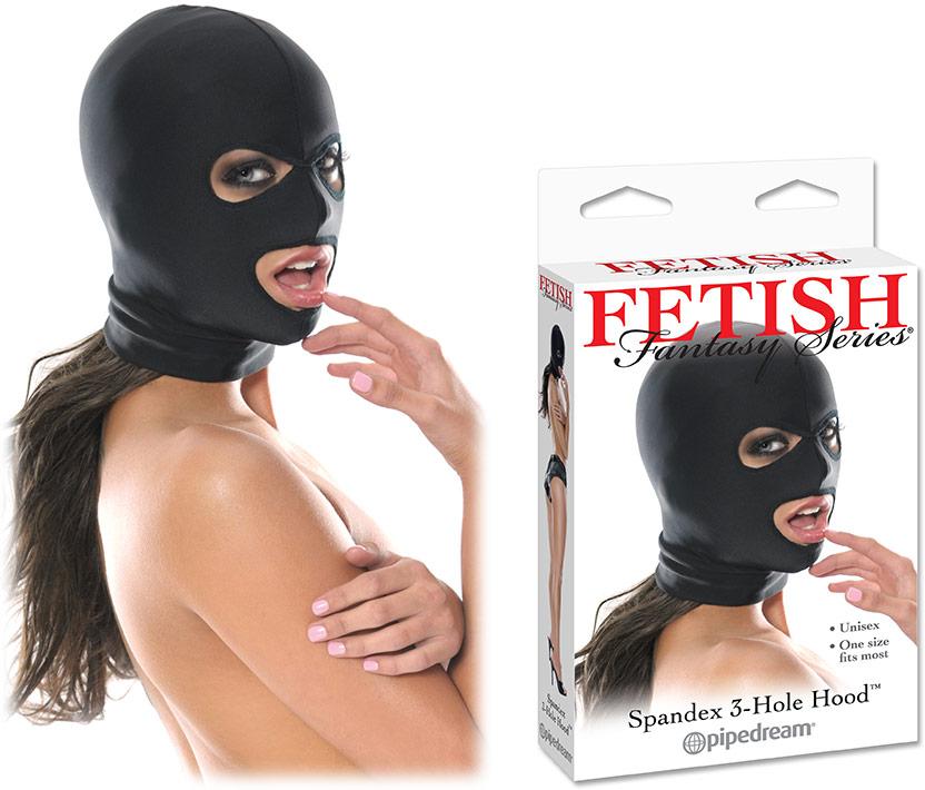 Fetish Fantasy SM Kopfmaske aus Spandex - 3 Öffnungen