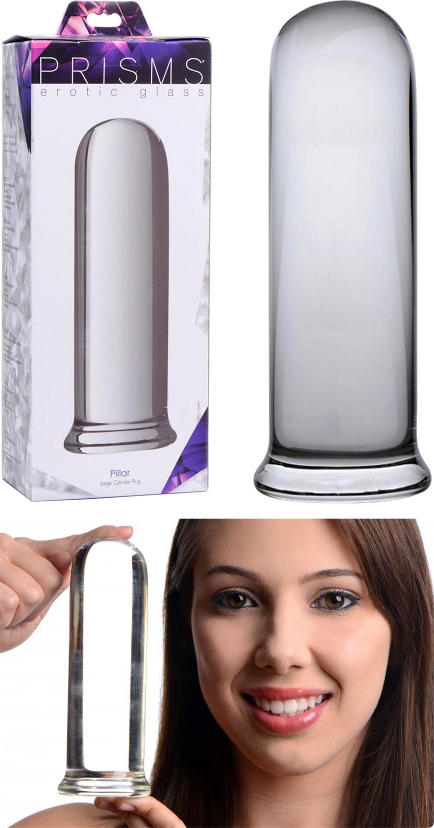 Plug anale di vetro Prisms Pillar - Trasparente