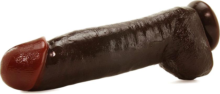 Dildo réaliste Rascal Black Balled Extra Large - 29 cm