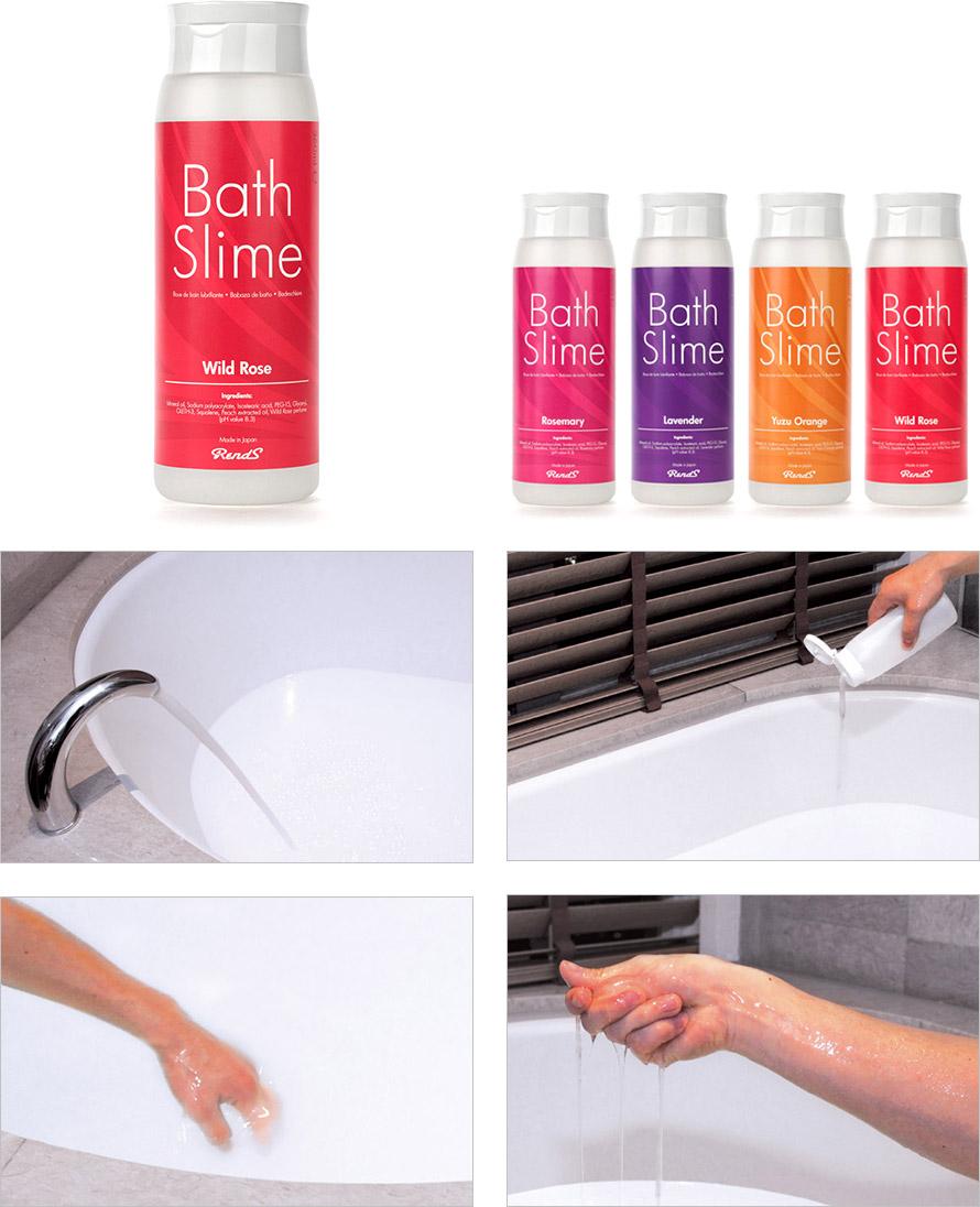 RendS Bath Slime - Gleitmittel für die Badewanne - Wildrose