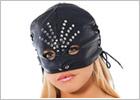 Masque ouvert Rimba en cuir avec rivets