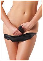 Rimba Culotte en latex avec dildo intégré - Noir (L)