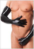 Rimba Longs Gants en latex - Noir (S)