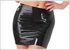 Rimba Latex Mini Skirt - Black (S)
