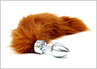 Rimba butt plug with tail - Russet