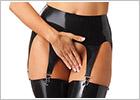 Rimba latex suspender belt - Black (S)