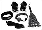 Set d'accessoires BDSM pour débutants - Noir