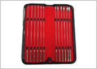 Dilatateurs Rouge Rosebud en acier inoxydable (12 pièces)