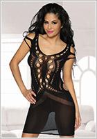 Saresia Bodystocking-Dress Seductive Cuts - Black (S/L)
