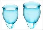 Satisfyer Feel Confident - Menstruationsbecher (2 St.) - Hellblau