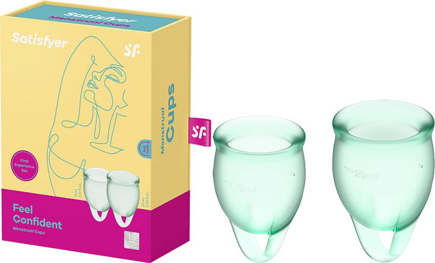 Satisfyer Feel Confident - Menstruationsbecher (2 St.) - Hellgrün