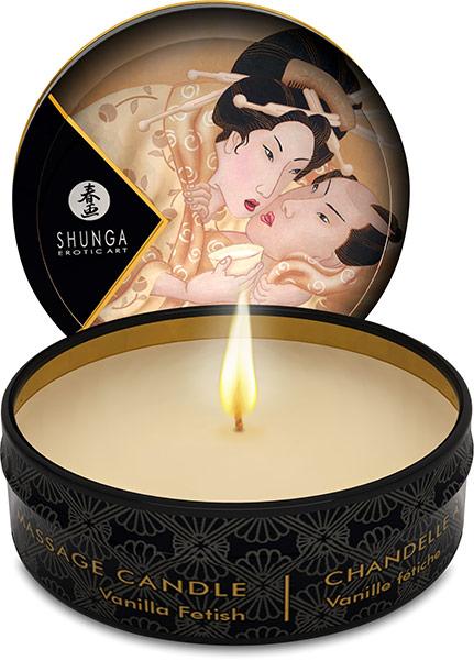 Bougie de massage Shunga Desir - Vanille fétiche - 30 ml
