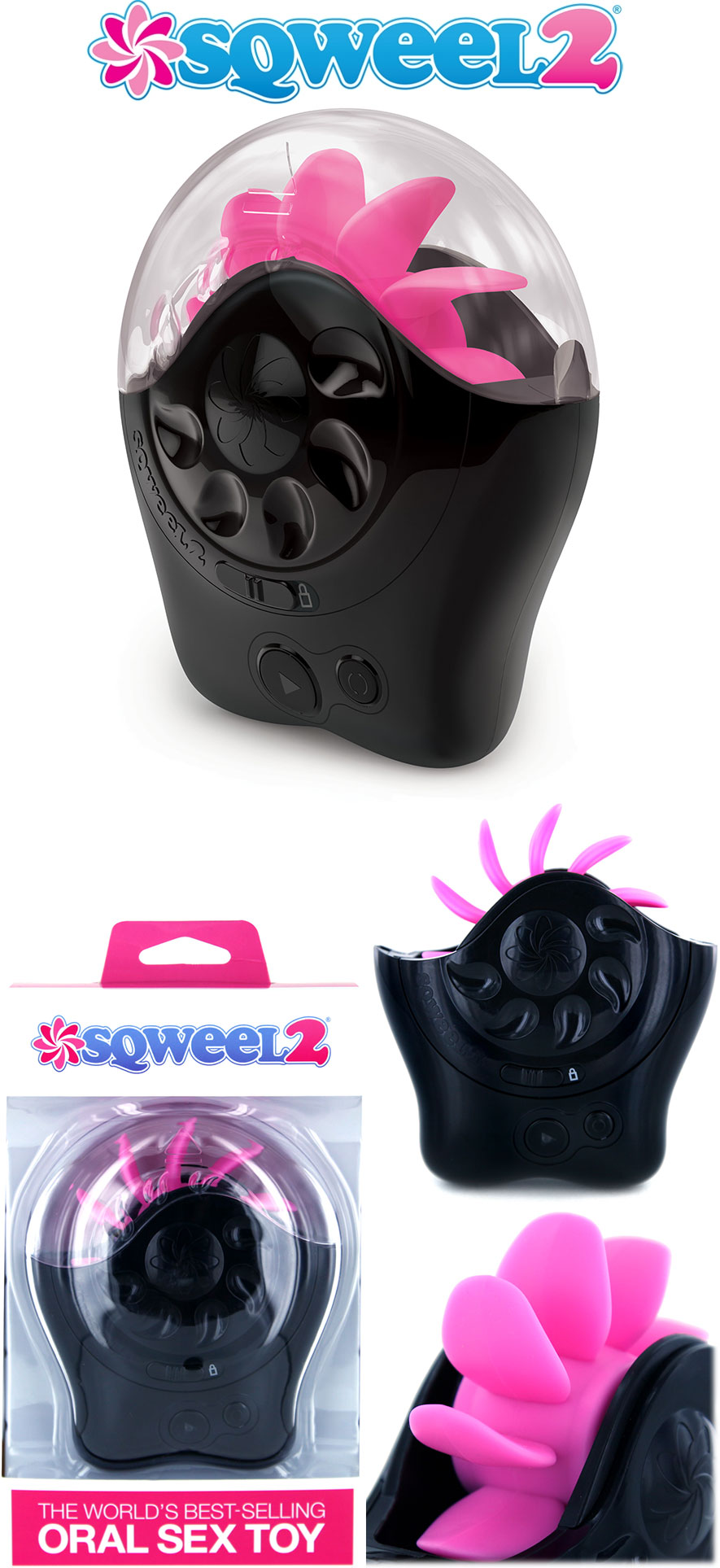 Sqweel 2 Oralsex-Simulator - Schwarz