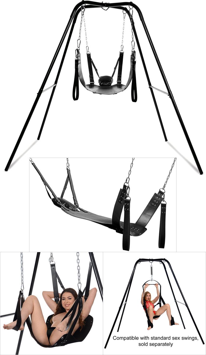 Strict Extreme Sling & Stand Metallstütze und BDSM-Harness