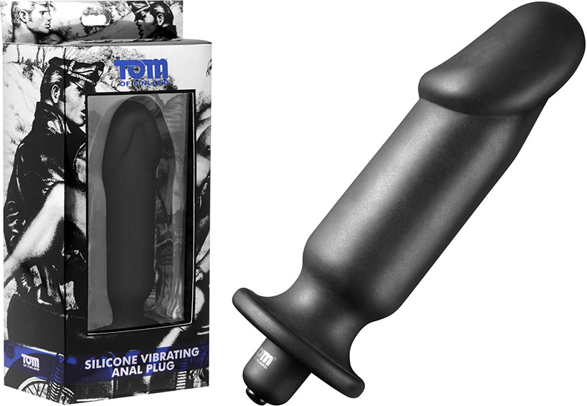 Tom of Finland Silicone Vibrating Anal Plug (Standard Size)