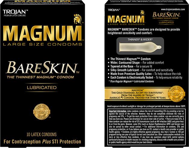 Preservativi Trojan Magnum BareSkin (10 preservativi)